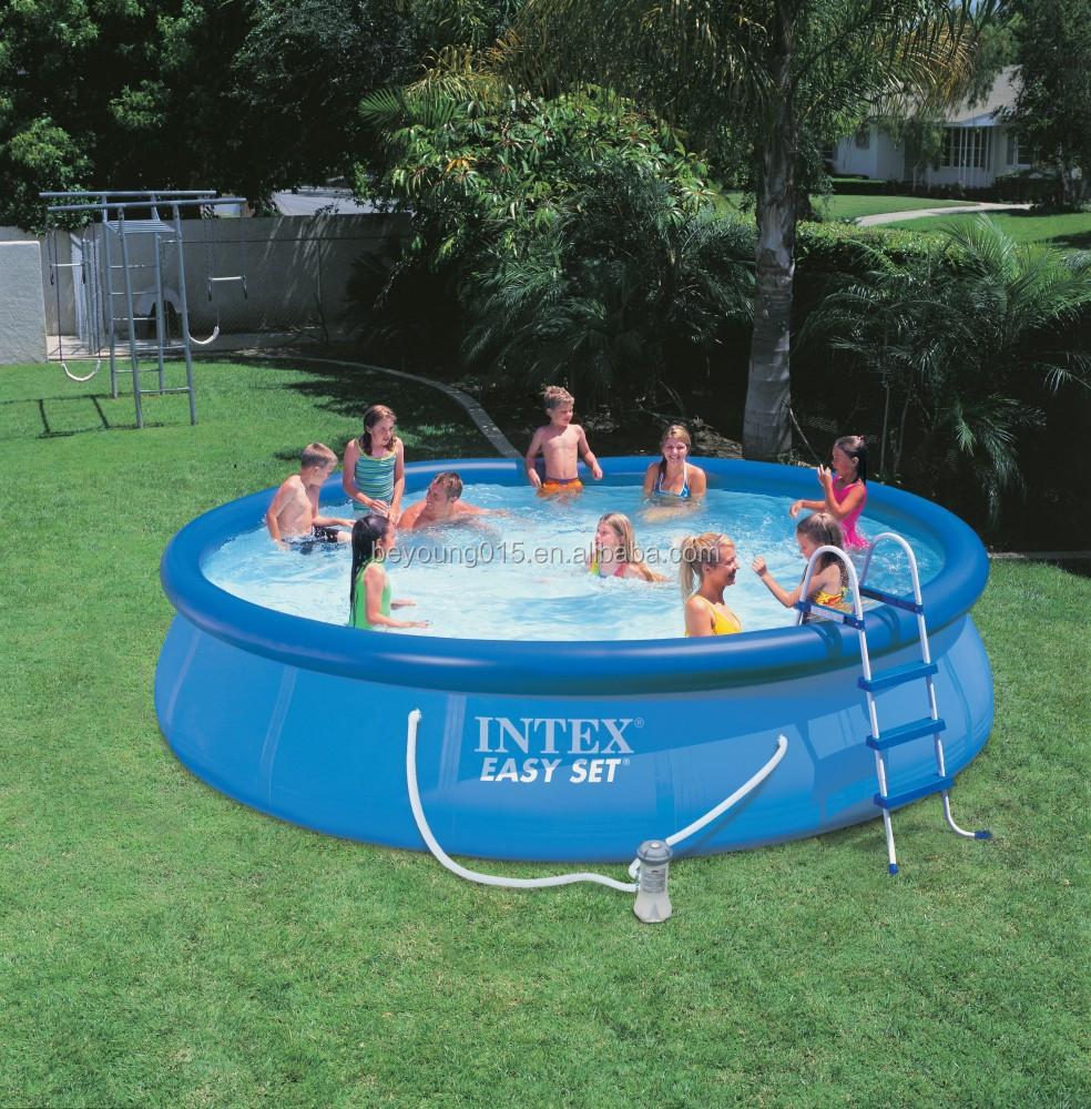 Abdeckplane Frame Pool 366 Durable Above Ground Pool Intex Metal Frame Round Swimming Pool 12ft X 30