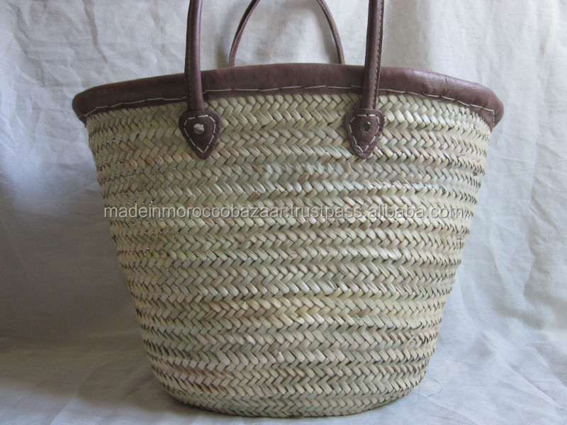 Amazing Moroccan Handmade Natural Wicker Basket With