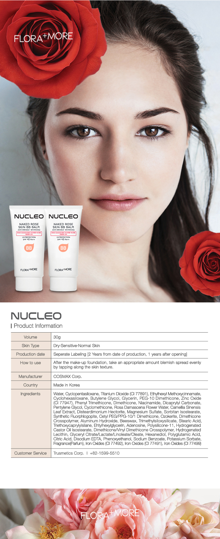 Chicco Baby Japan Made In Korea Nucelo Flora More Naked Rose Skin Bb Balm