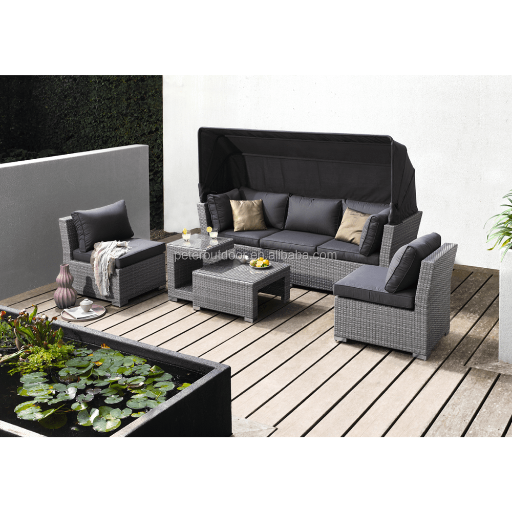 Lounge Set Polyrattan Polyrattan Function Seat Group Loungegroup Garden Furniture 5 Piece Design Loungeset With Sofa Element Stool Table Ottoman Buy