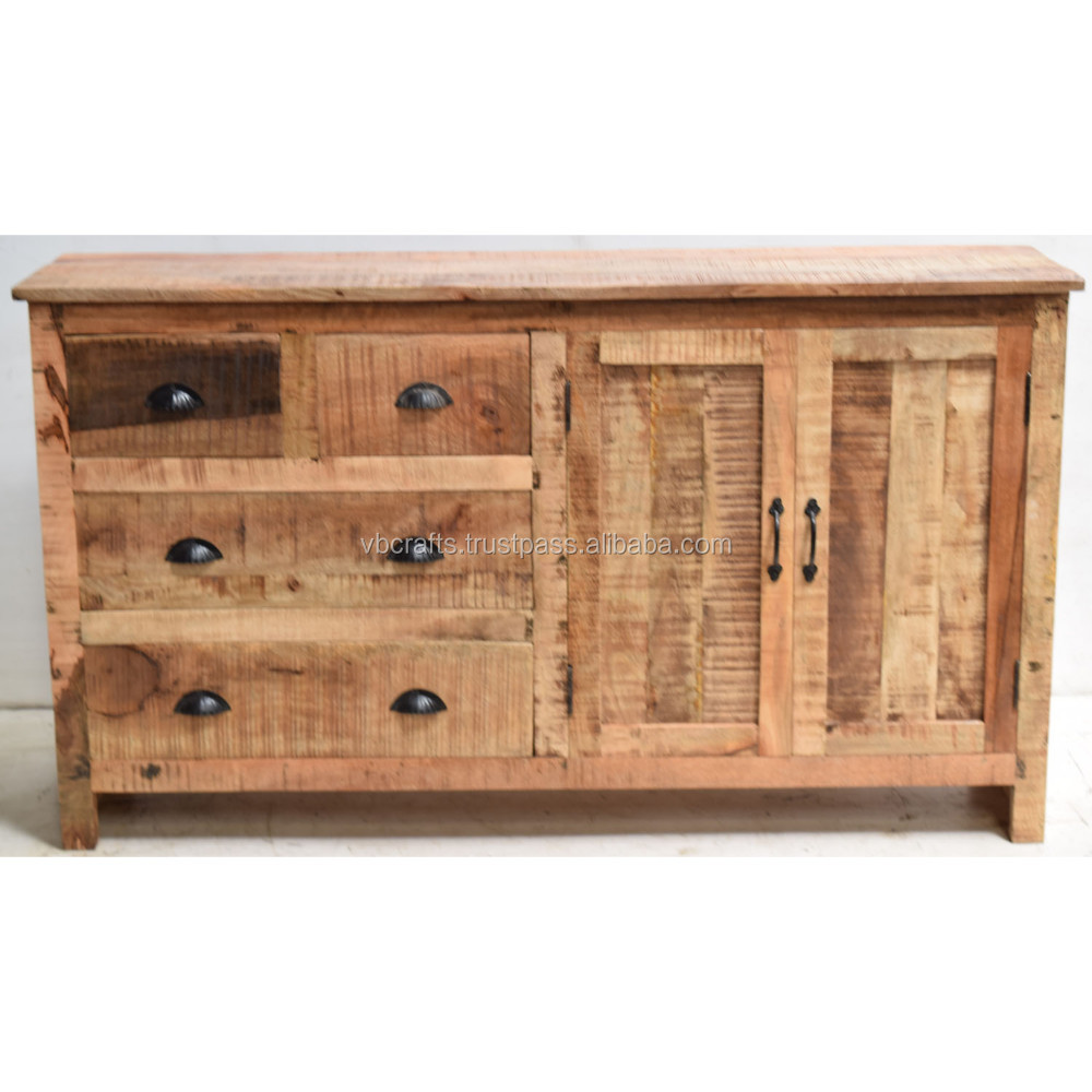 Massives Mango Holz Side Board Industrie Design - Buy Reclaimed Wood Sideboard,Acacia Wood Sideboard Buffet,Industrial Sideboard Metal Furniture Product on Alibaba.com