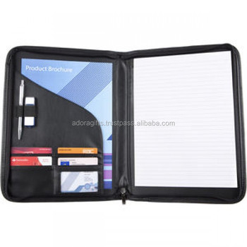 Conference Folder,Pu Leather Padfolio/ Resume Portfolio Folder,A4