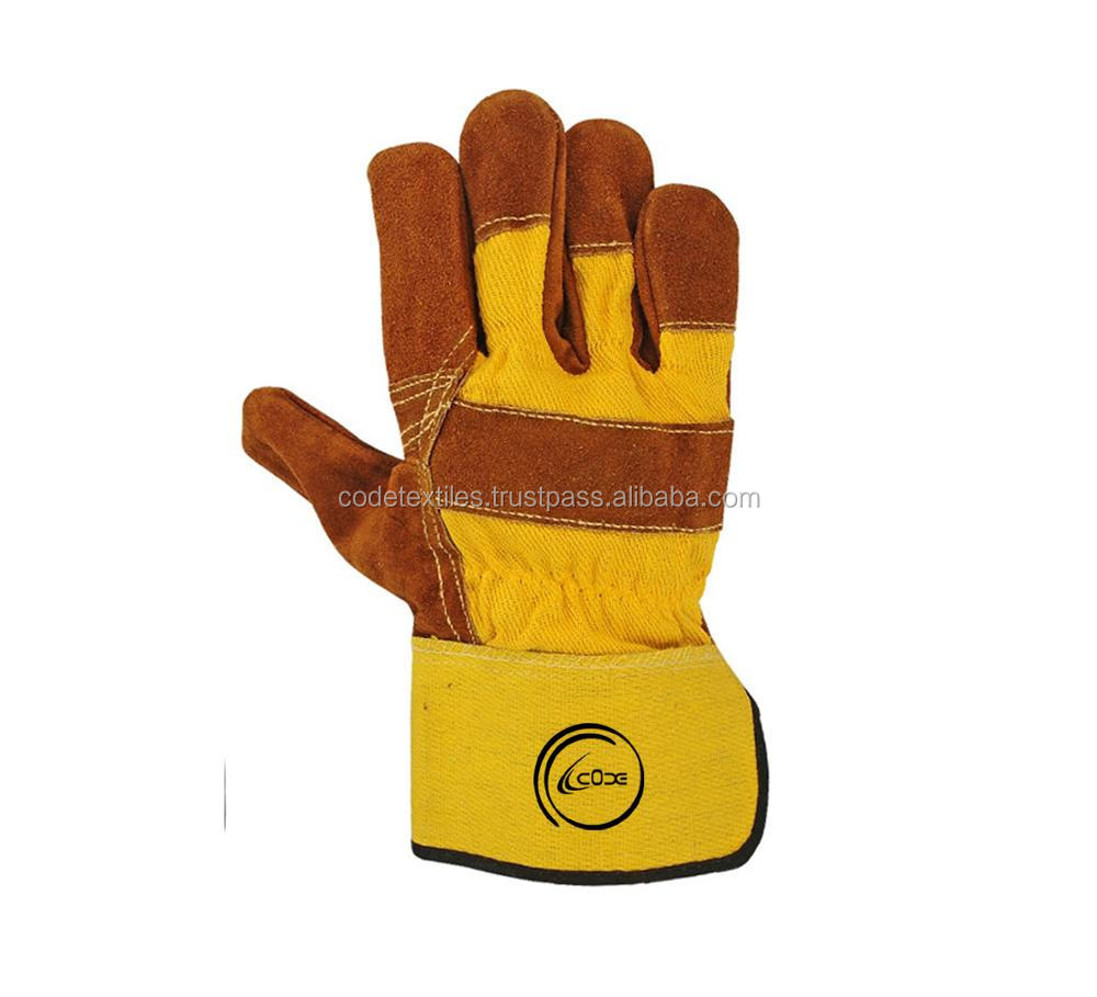 Labor Safety 707 Leather Working Gloves Working Labor Safety Cowhide Split Leather Gloves With Patch Plam Brown Working Glove Buy Cow Split Leather