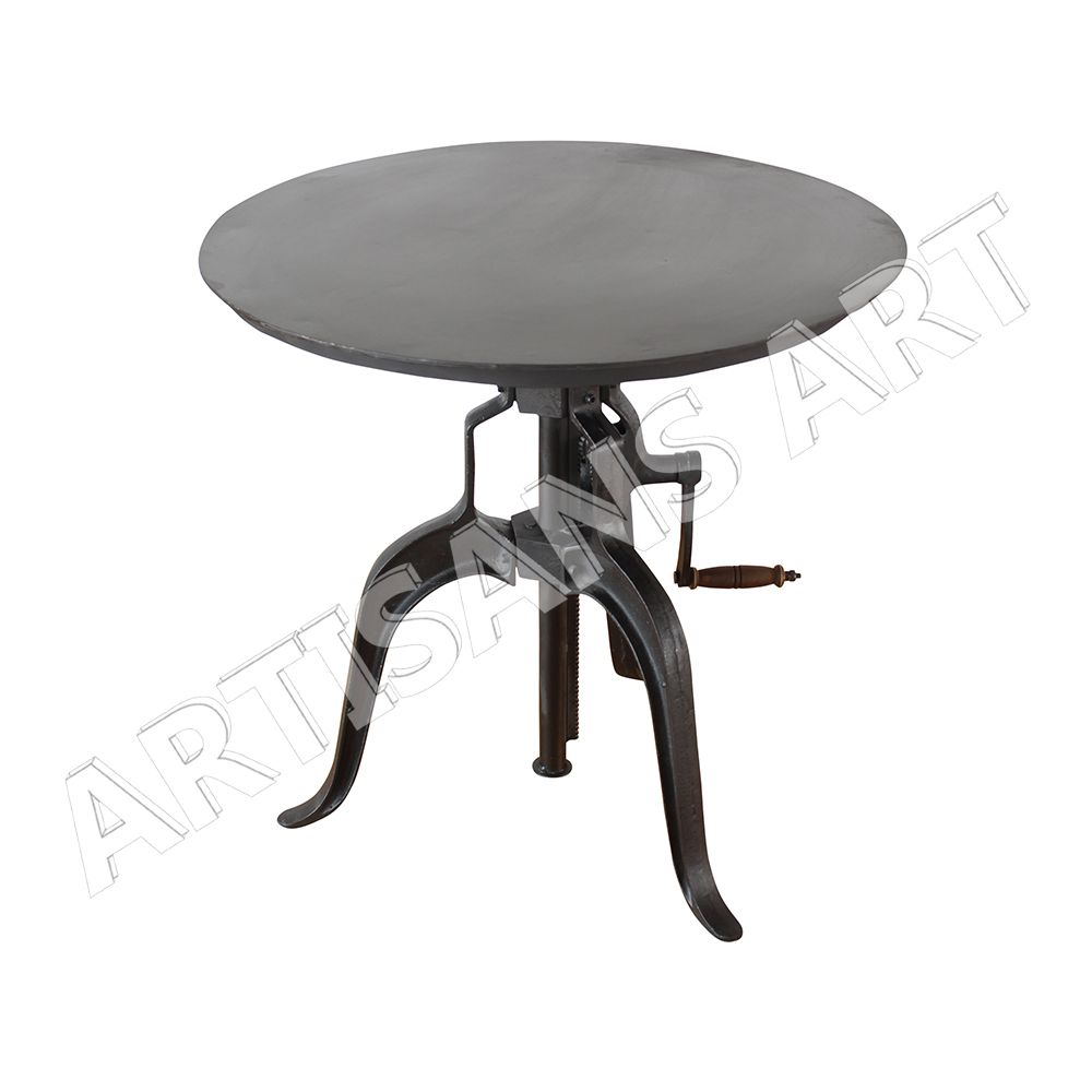 Industrietisch Industrial Vintage Cast Iron Crank Restaurant Table Cafe Table