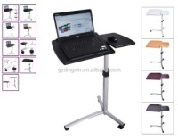 Mobile Adjustable Laptop Table Bedside Rolling Stand