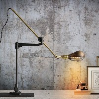 Industrial Steampunk Extension Pole Table Reading Lamp Cfl ...