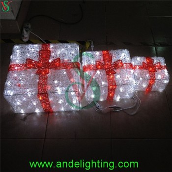 Acrylic Lighted Outdoor Christmas Decorations Gift Boxes - Buy - lighted outdoor christmas decorations