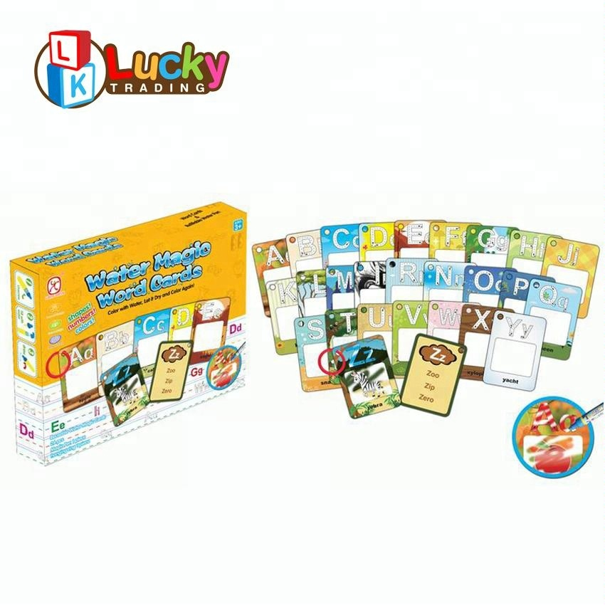 Magic 26 Alphabet Card Water Coloring Book Educational Toy For Kids