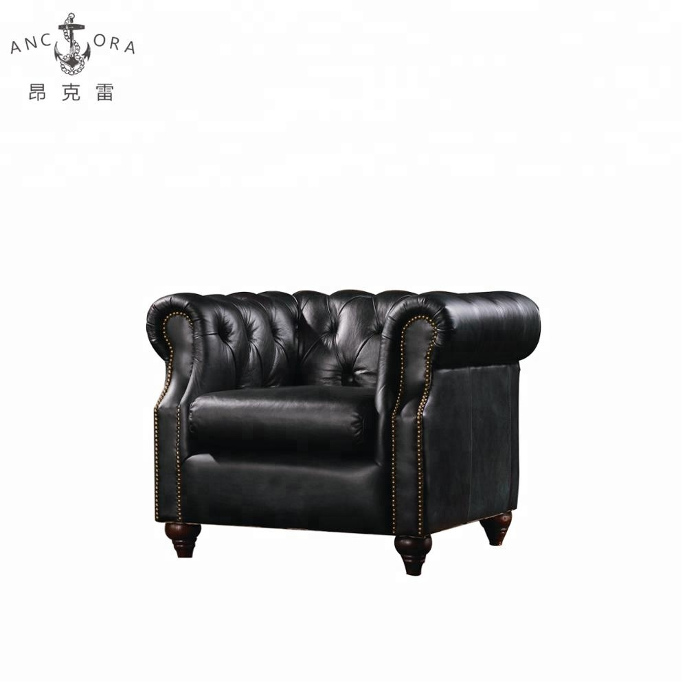 Chesterfield Sofa And Chair Antique Black Leather Chesterfield Sofa Chair With Nailhead Trims K602a Buy Single Sofa Chair Chesterfield Sofa Chair Black Leather Chair Product On
