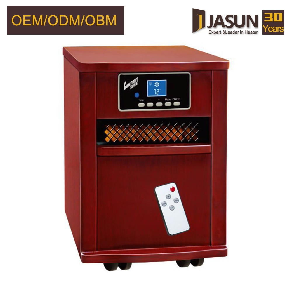 Cixi Wooden Cabinet Freestanding Heater Quartz Infrared