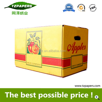 Beautiful Color Print Fresh Apple Packing Corrugated Cardboard Box