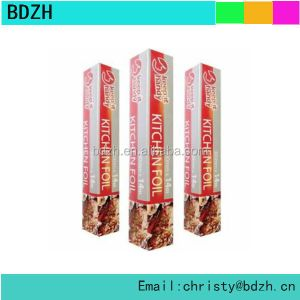 Aluminum foil food packaging for kitchen use