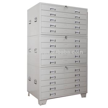 Factory Sale Flat Plan File Cabinet 5 Steel Drawers Plan Drawing
