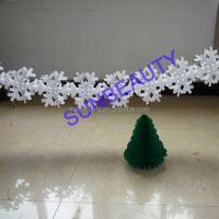 Tissue Paper Snowflake Pattern White Christmas Garland ...