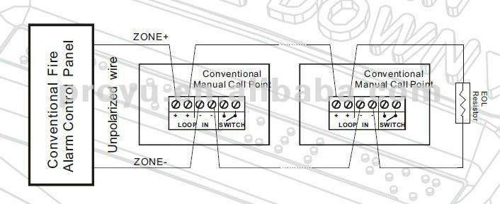 manual alarm call point wiring diagram
