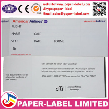 Airline Ticket,Boarding Pass,Parking Ticket Printing Paper-label - printable ticket paper