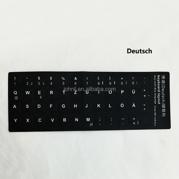 Deutsch Laptop Keyboard Skins Sticker Printable Keyboard Sticker