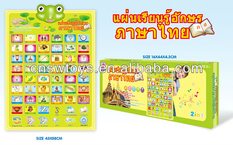 English / Thai Alphabet Wall Charts First Learning Tool - Buy Wall