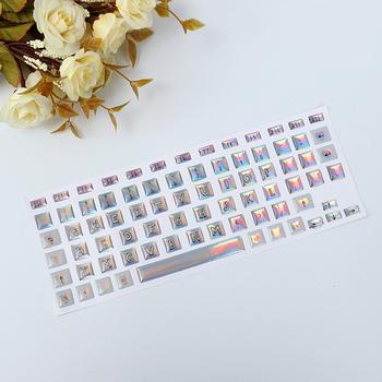 Puffy Vinyl English Letter Printable Laptop Keyboard Skins Sticker