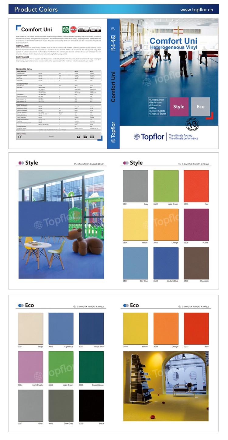 PVC Bodenbelag EXPOTOP Profi Vinylboden 2,00m x 3,50m Einfarbig Schwer Entflammbar Uni Rot PVC Boden Meterware Vinyl