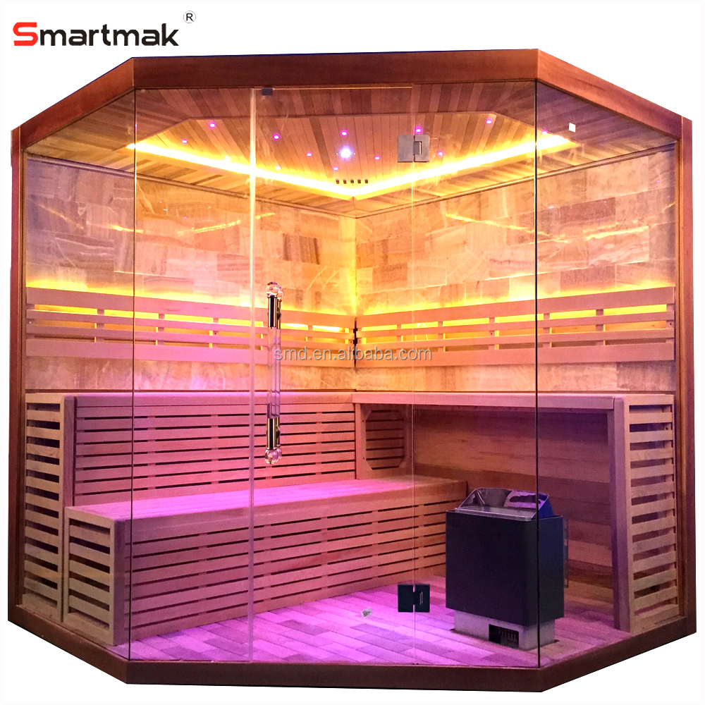 Sauna Led Smartmak Luxury Rock Salt Sauna Steam Room Led Star Lights Corner Sauna For Sale Buy Sauna Steam Sauna Sauna For Sale Product On Alibaba