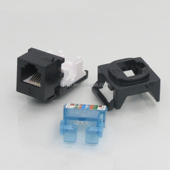 Rj11 Telephone Connector Cat3 6p4c Keystone Jack Toolless Type - Buy