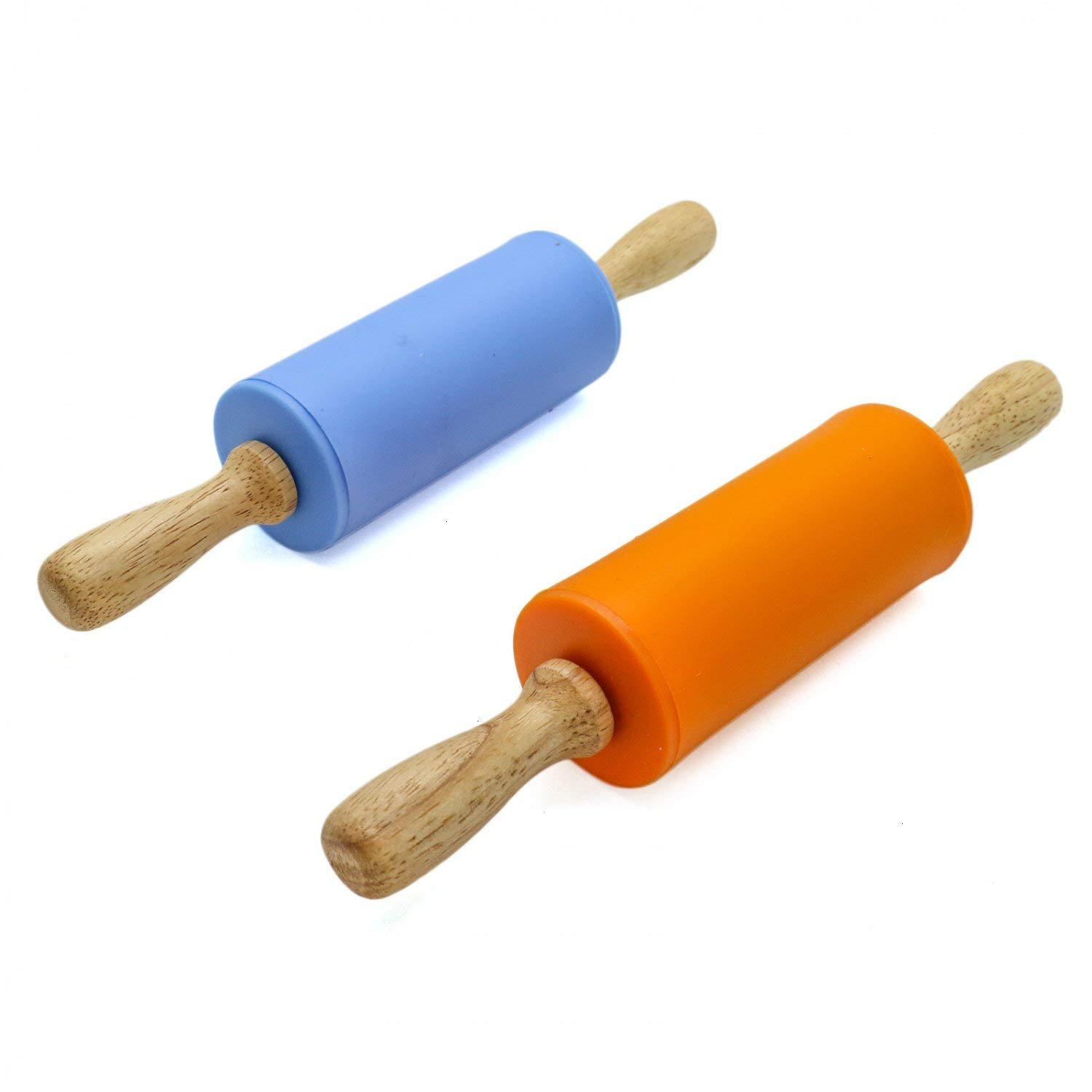 Kitchen Dining Rolling Pins Vanzavanzu Wood Dough Roller For Kids Sleek And Sturdy Mini T Wooden Rolling Pins For Baking Non Stick Eco Friendly And Safe Suitable For Smaller Hands Pastry Pizza Roller