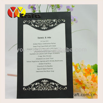 Unique Simple Wedding Invitation Card For Party And Event,Black