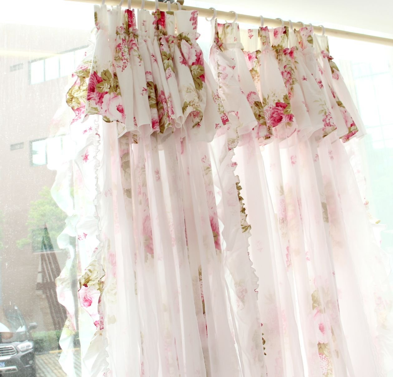 Pink Living Room Curtains Buy Diaidi Pink Living Room Curtains Romantic Ruffle Polka Dot
