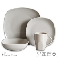 Rectangular Light Grey Dinnerware Sets Ceramic Snowman ...