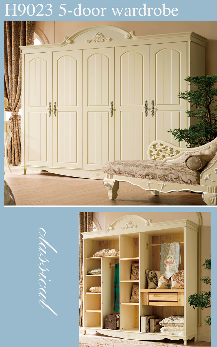 High End Classy Country Style Solid Wood Used Bedroom