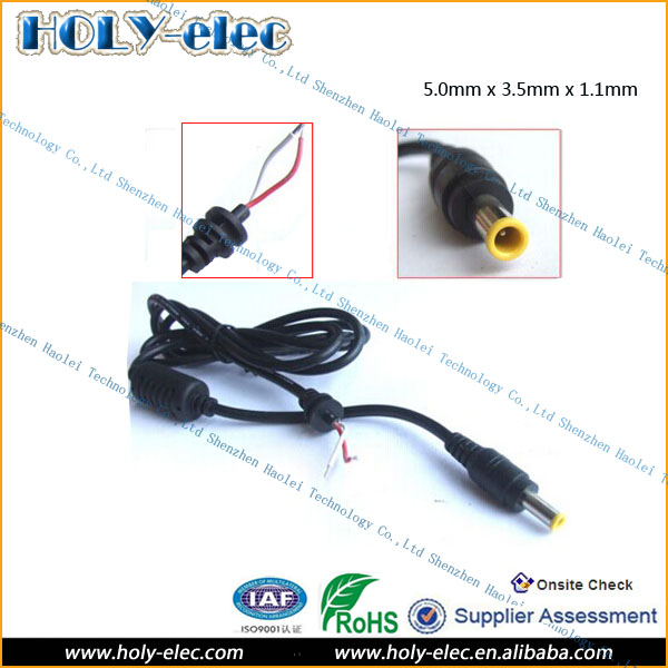 5mm X 35mm X 11mm Cable Wire Dc Male Plug Types For Dc Power