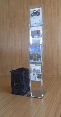 Metal Acrylic Floor Brochure Holder Magazine Stand,Free