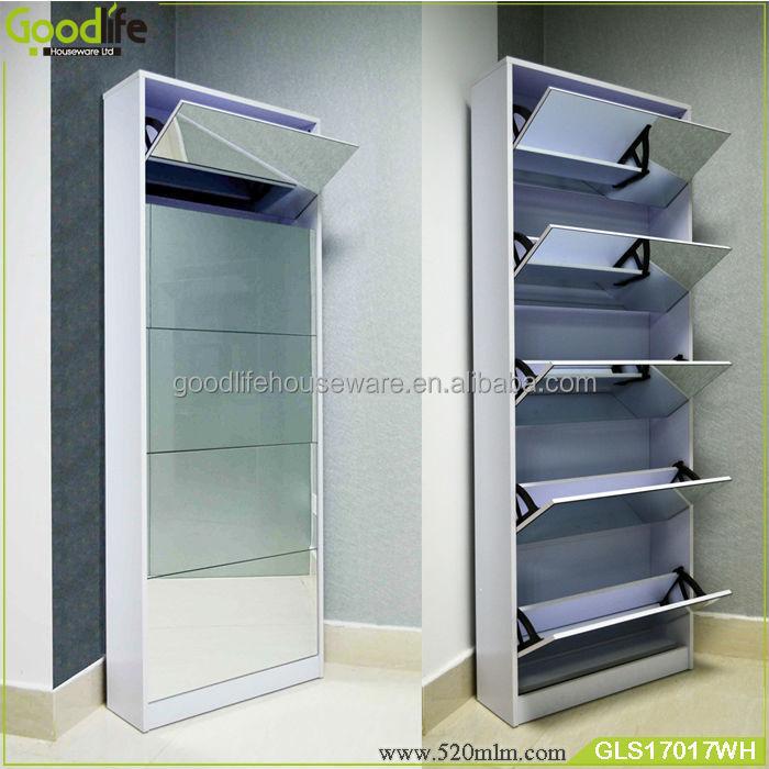 Shoe Shoe Storage With Mirror