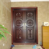 Traditional Arched Wooden Main Door Design