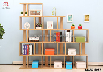 Wooden Modern Bookcasebookshelfbookcase With Study Table