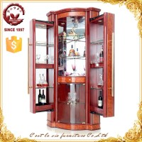 Modern Livingroom Tall Wooden Corner Bar Cabinet - Buy ...