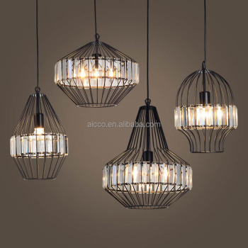 Modern Pendant Light Vintage Industrial Lamp Wire Cage