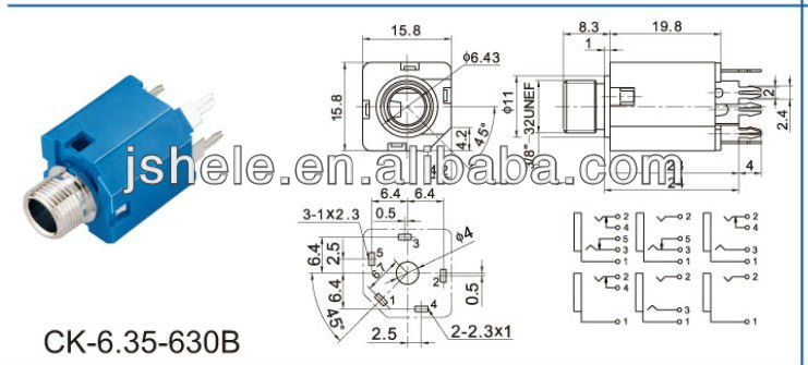 Wiring A 1 4 Inch Jack Socket Electronic Schematics collections