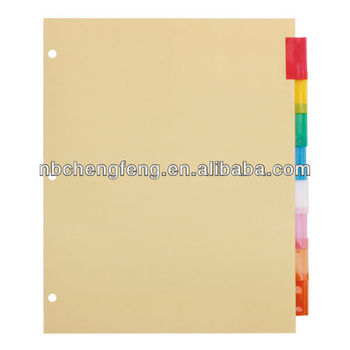 Legal Size Stationery Colorful A4 Folder Tab Dividers 8pk - Buy - folder dividers tabs