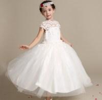 Wedding Dress 2018 Children Long Frock Design White