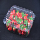 Food grade disposable clear plastic fruit packing box with cover