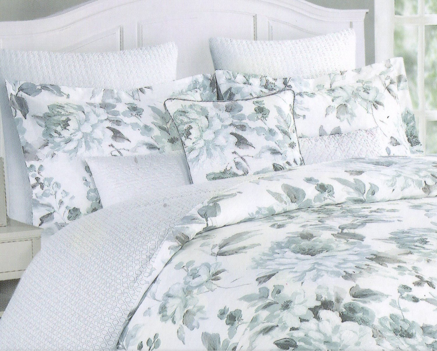 Victorian Bedding Buy Tahari Home Dusty Turquoise Floral Victorian Bedding 3pc Duvet