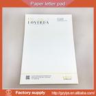 Hot sale gold foil custom business letter pad design