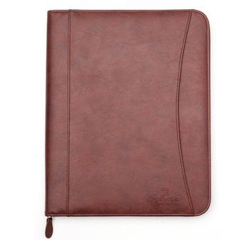 Resume/business Pu Leather Document Storage Zippered Portfolio