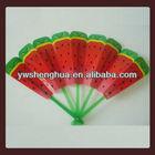 Yiwu 2014 newly custom advertisement fruit pp hand fan,plastic fan