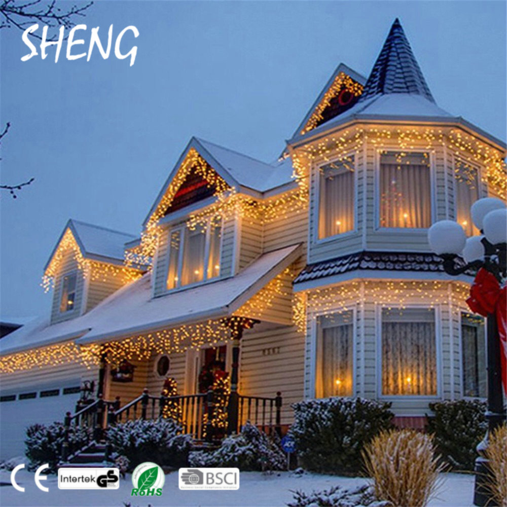 Ijspegel Verlichting Warm Wit Sheng Ic 001 Vintage Plug Warm White Outdoor Garden Falling Led Ijspegelverlichting Met Adapter