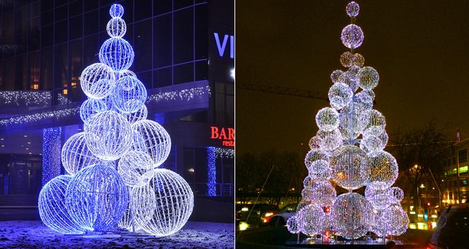 Dismountable Ball Tree Outdoor Christmas Decorations Clearance - clearance outdoor christmas decorations