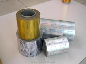 Custom-made printed and coated treatment pharmaceutical use alu alu blister foil