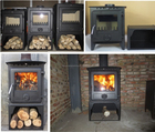 12KW China supplier cast iron wood burning stove HS-STOVE-X12L